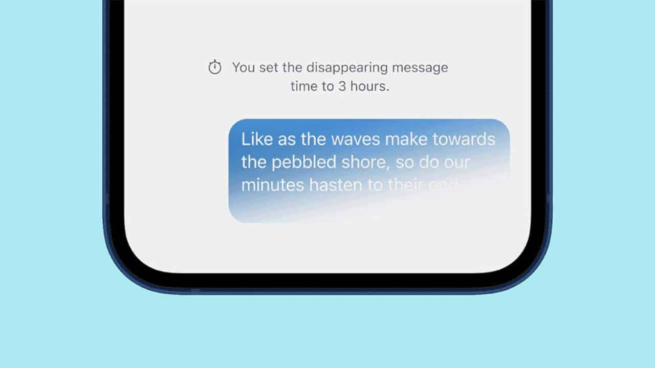 Signal has a new message timer to make disappearing messages a default